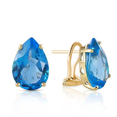 ALARRI 10 CTW 14K Solid Gold Inspiration Blue Topaz Earrings by ALARRI