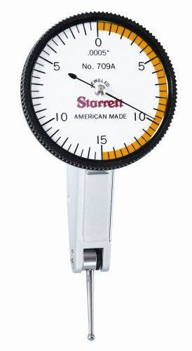 Starrett 709AZ Dial Test Indicator without Attachments, Dovetail - Three Point Reversal