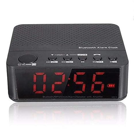 Digital LED Display Alarm Clock With Bluetooth Speaker ...