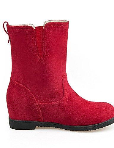 Vellón U Beige us8 Redonda negro De Cuña Rojo Mujer Xzz Tacón Moda Punta Eu42 5 Botas us10 A Casual Cn43 Zapatos Uk8 Vestido Uk6 Marrón Eu39 5 La Cuñas 5 Cn40 Brown 5 644wxFZp