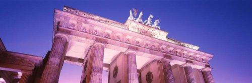Walls 360 Peel & Stick Wall Murals: Brandenburg Gate at Dusk (84 in x 28 in) - Dusk Berlin