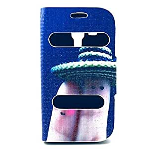 PEACH Finger Pattern PU Leather Full Body Case with Stand for Samsung Galaxy Trend Duos S7562