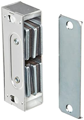 "Rockwood 901.ALM Aluminum Extra Heavy Duty Magnetic Catch, 13/16"" Width x 3-1/3"" Height x 1"" Thickness, Natural Aluminum Finish"
