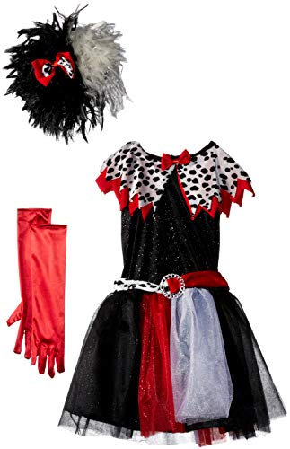 Fun World 112352M Dalmatian Diva Child Costume, Medium, Multicolor -