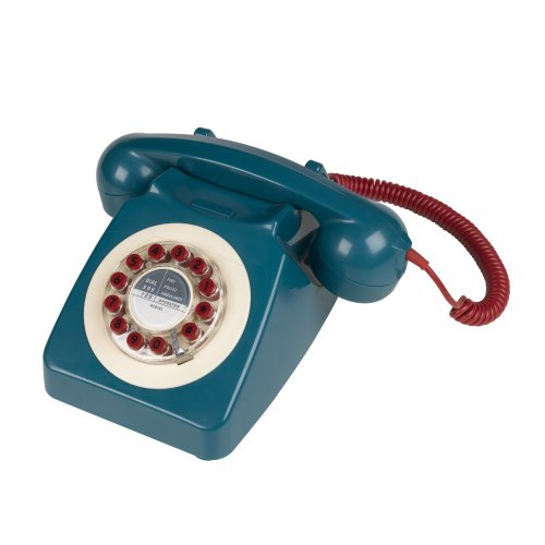 746 Nineteen Sixties Design Classic Retro Telephone - Petrol Blue by Wild and Wolf
