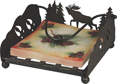 River's Edge Products Lazer Cut Moose Napkin Holder