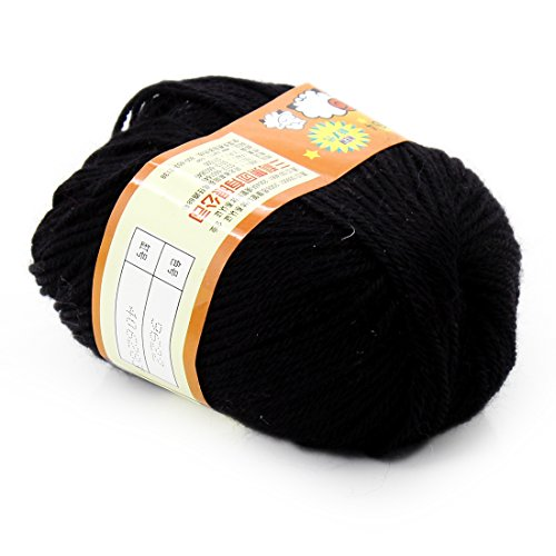 Joylive Soft Wool Worsted Sweater Cashmere Knitting Knitted Warm Baby Yarn 50g Black