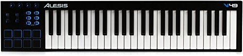 Alesis V49   49-Key USB MIDI Keyboard & Drum Pad Controller (8 Pads / 4 Knobs / 4 Buttons)