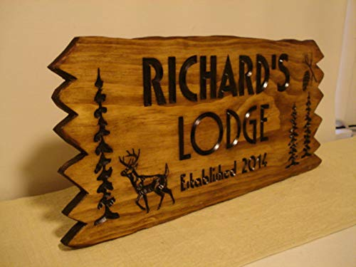 Pinecone Address Plaque - Lodge Ranch Cabin Cottage Rustic Camping Signs Wooden Printed Wood Sign Welcome Signs Name Trees Pinecone Address Plaque gift ideas Benchmark Sign s