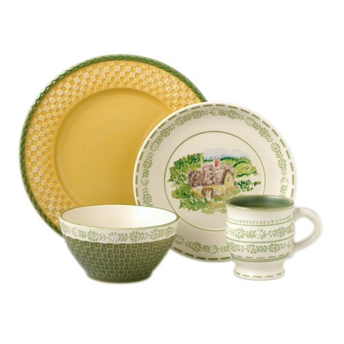 Pfaltzgraff Circle of Kindness Merriweather 4-Piece Dinnerware Place Setting, Service for ()