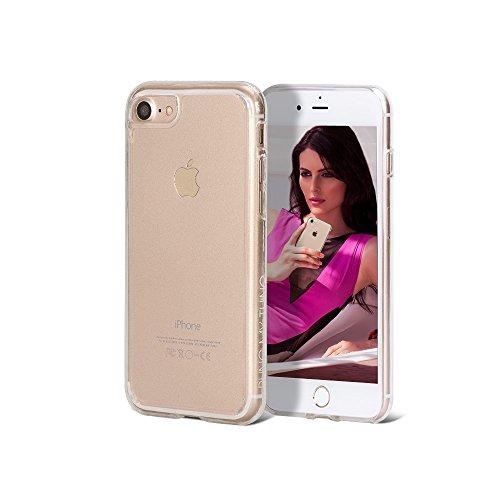 Bling-My-Thing iP7-ex-cl-ice Expression Serie Luxuriöses und einzigartiges Design veredelt mit original Swarovski Kristallen, modisches Clear Case für Apple iPhone 7 Ice
