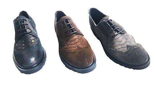A1960 Scarpe By Antonio N. - Zapatos de cordones de Piel para mujer marrón marrón marrón