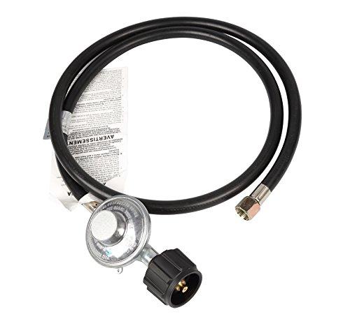 Camplux Low Pressure Propane LPG Tanks Gas Regulator Kit with 5 Feet QCC1 Hose CSA Certificated,BTU 80,000 Max, 3/8