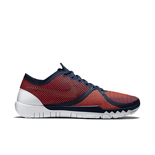Nike Mens Free Trainer 3.0 Running Shoes (Midnight Navy, Hyper Orange) Sz. (Nike Mizuno Womens Shoes)