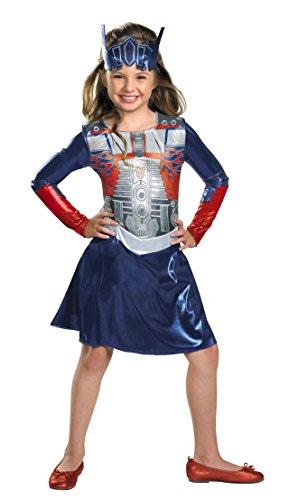 Girl Transformer Costume (Optimus Girl Classic Costume - Extra Small)