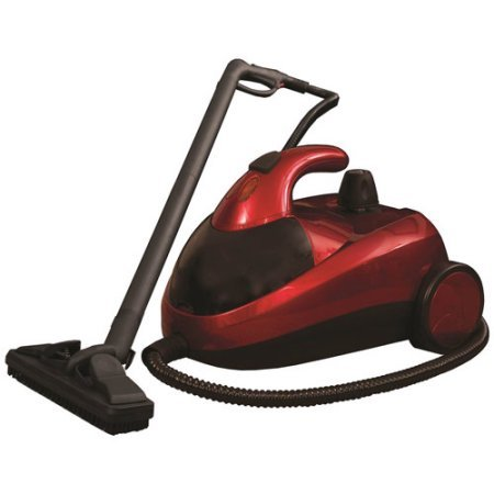 Red 1500W Stainless Dynamo Pressurized Steam Cleaner