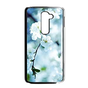 Personalized Clear Phone Case For LG G2,glam pear flowers bloosm