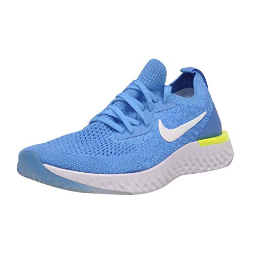premium selection 5cb59 06b21 NIKE Kids Epic React Flyknit GS Youth Running Shoes, Blue Glow Size 6.5Y