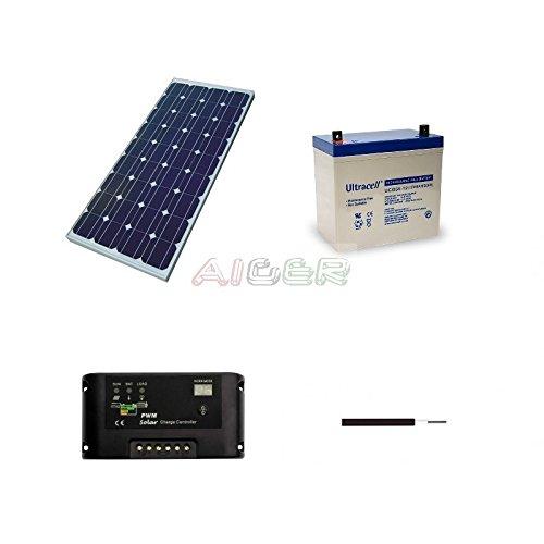 Kit fotovoltaico de 100 W a 12 V