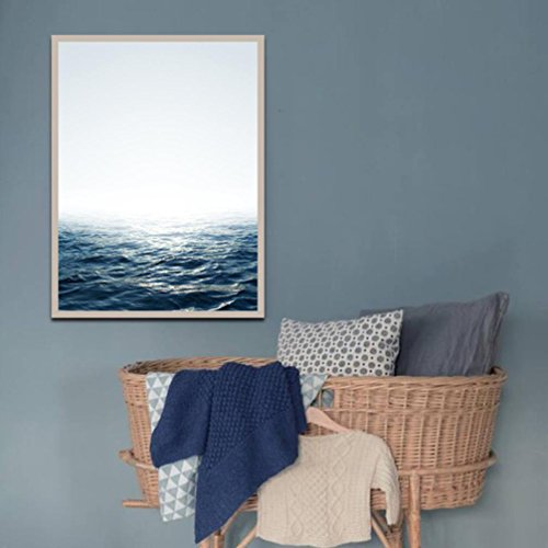 ern Art Oil Painting Print Sea Water Style Canvas Picture Home Wall Room Decoration (B) (Modern Art Oil Burner)