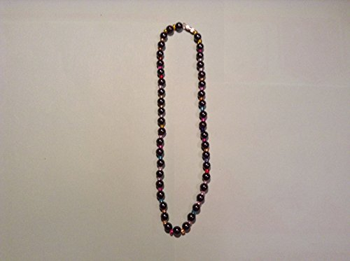 Black Watch Blazer - 17 ' MAGNETIC HEMATITE BALL BEAD & COLOR BEAD NECKLACE USABLE BY AGE 13 & UP