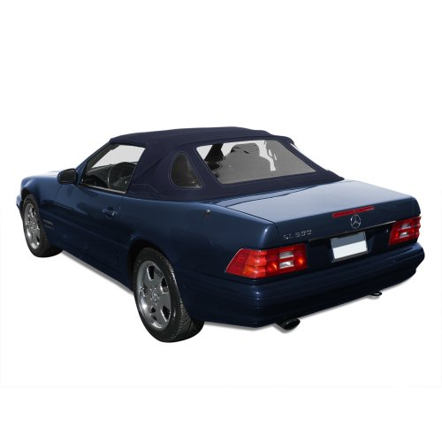 - Mercedes Benz SL R129, 1990-2002 Complete Convertible Top with 3 Plastic Windows and Original German Classic Cloth, Blue