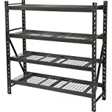 Strongway Steel Shelving - 72in.W x 24in.D x 72in.H, 4 Shelves