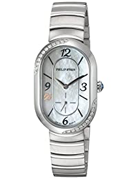 Philip Stein Women's 'Modern' Swiss Quartz Stainless Steel Dress Watch, Color:Silver-Toned (Model: 74SD-FMOP-MSS)