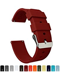 BARTON Quick Release - Choice of Colors & Widths - 16mm, 18mm, 20mm or 22mm - Crimson Red 20mm Watch Band Strap