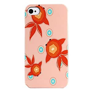 WQQ Three Goldfish Pattern ABS Back Case for iPhone 4/4S