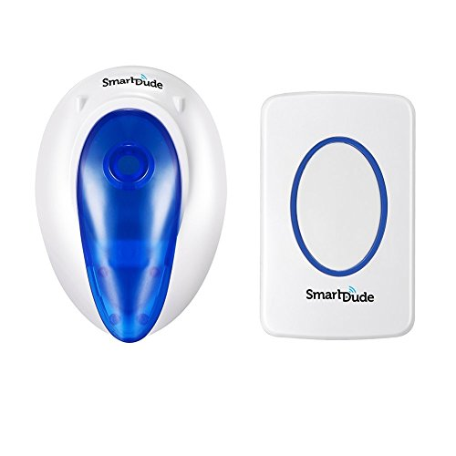 SmartDude Wireless Doorbell SD003 Waterdrop Wireless Plug in System with Light Long Range, 36 Chimes, Loud Ring Doorbell Kit