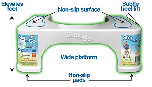 """Step and go Toilet Stool 7"""" New - Proper Toilet Posture for Better and Healthier Results, 2 Pound"""
