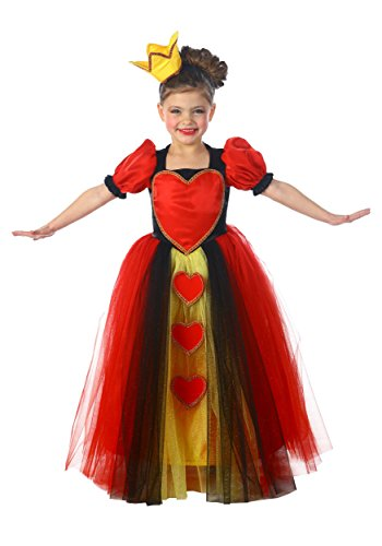 Girls Red Heart Princess Costumes (Princess Queen of Hearts Child Costume - Large)