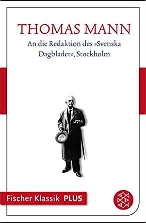 An Die Redaktion Des Svenska Dagbladet Stockholm Text