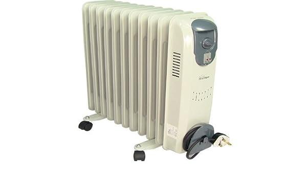 Radiador de aceite 2.5kw con control de termostato: Amazon.es: Bricolaje y herramientas