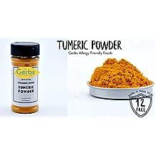 Turmeric Powder by Gerbs - 4.25 oz. Shacker Jar - Top 12 Food Allergen Free - Gourmet Chef Grade