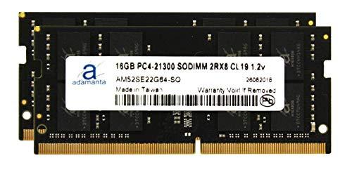 Adamanta 32GB (2x16GB) Laptop Memory Upgrade DDR4 2666Mhz PC4-21300 SODIMM 2Rx8 CL19 1.2v Notebook RAM DRAM