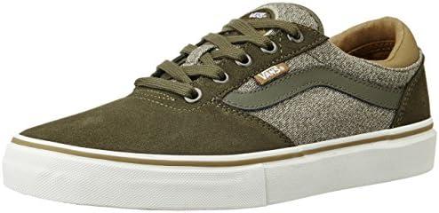 c6750862af6e Vans Men s Gilbert Crockett Pro Dark Olive Canvas Sneakers - 7 UK ...