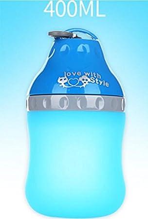 ZHJZ Cuenco para Perros Botella de Agua Portátil para Mascotas Travel Mascota para Mascotas Kettle (Azul L): Amazon.es: Productos para mascotas