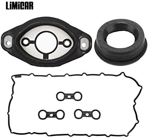 LIMICAR 11127582245 Valve Cover Gasket 11127552280 Engine Camshaft Adjuster Eccentric Shaft Actuator Seal Compatible with BMW E81 E87 E90 E91 E92 E93 E60 E61 E65 E66 X3 X5 Z4 3.0L