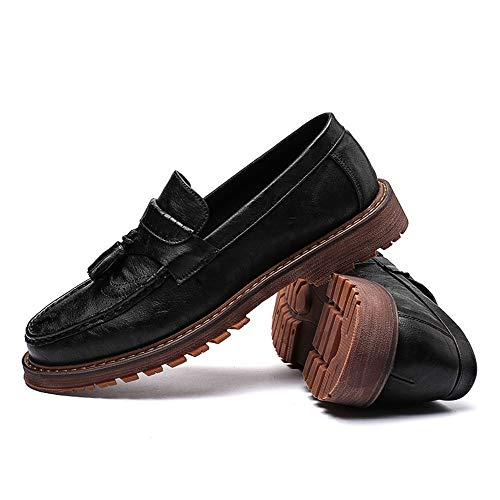 Top Shoes Low Carving British Casual Cricket Uomo Retro Affari da Brogue Scarpe Nero Oxford New da Nuovi Tasseled 8wzCqxO