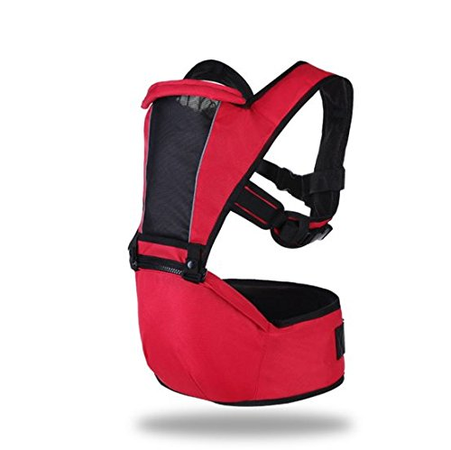 3 in 1 Ergonomics Baby Child Carrier Hip Seat Infant New Born Birth Child Sling Wrap, Seat Sling by Love Kids. Safe Backpack Carriers Back Pain Support (Red)