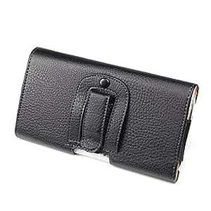 comprar PU correa de cuero bolsa de la caja del clip para la galaxia de mega 6.3 P729-negro