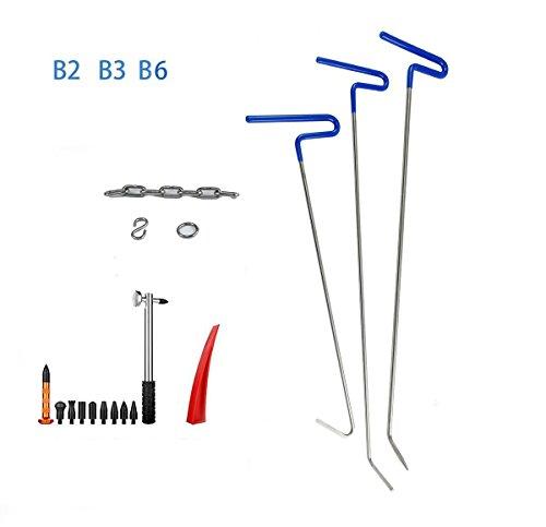 Furuix PDR Rod Tool Kit Repair Hammer and Tap Down Auto Dent Repair Kit Paintless Dent Removal Tools Dent Puller Kit