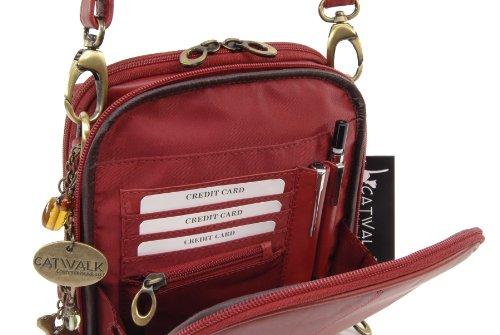 Rosso main femme pour à musette Rot Catwalk sacs Sac de Collection xzZ66
