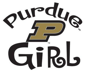 PURDUE BOILERMAKERS GIRL Clear Vinyl Decal Car Truck PU Sticker ()