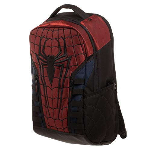 Amazing Spiderman Uniform Suit Comic Book Superhero Backpack Laptop Bag Bookbag -