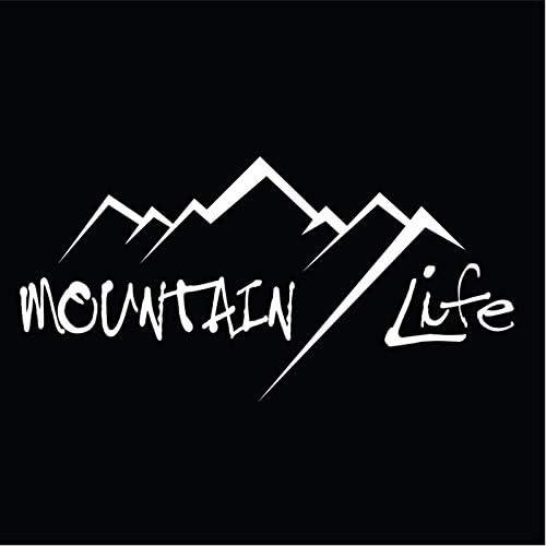 Adventure Awaits Mountains Bumper Sticker Mountains Calling Mountain Life Wilderness Outdoors Car Decal Trailer Decals Car Sticker Bumper