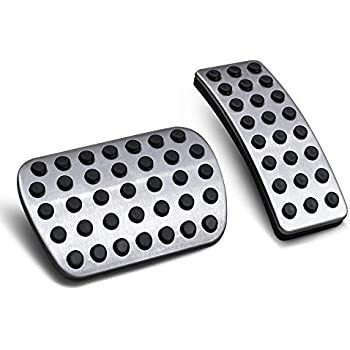 3 Set BSFlash car Gas Pedal Cover Compatible Mercedes-Benz ML、GL、GLE GLS and A B Before 2015