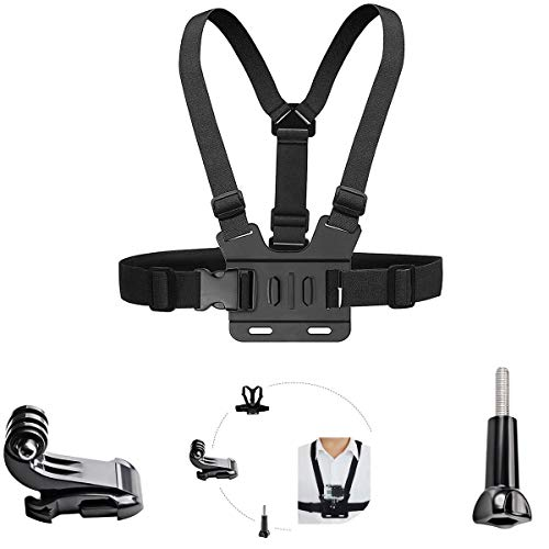 Adjustable Chest Mount Harness Compatible with AKASO EK7000 Brave 4 Gopro Hero7 6 5 Victure 4k APEMAN Action Camera Body Chest Strap Mount Belt